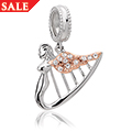 Angel Harp Milestones Christmas Drop Charm