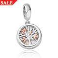 Tree of Life White Mother of Pearl Milestones Bead Charm