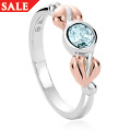 Tree of Life Love Vine Aquamarine Stacking Ring *SALE*