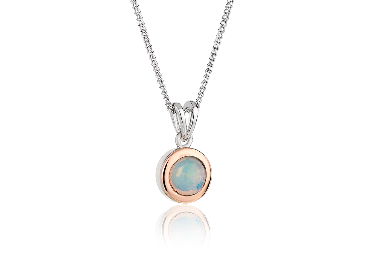 Fire Opal October Birthstone Pendant *SALE* 3SMBP10