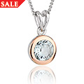 Aquamarine March Birthstone Pendant *SALE*