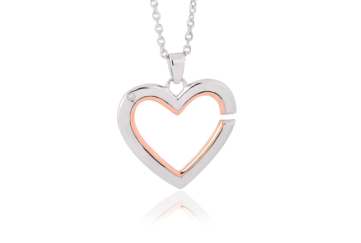 Mother and Daughter Small Heart Pendant