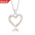 Mother and Daughter Large Heart Pendant *SALE*