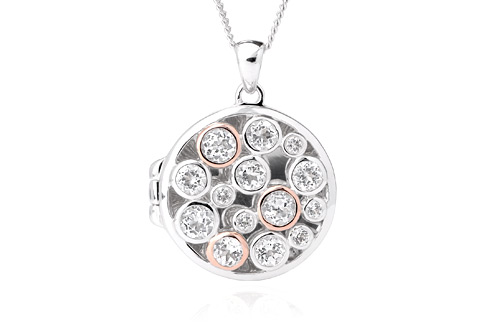 Silver & Rose Gold Clogau Celebration Locket *SALE*