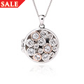 Silver & Rose Gold Clogau Celebration Locket