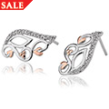 Masque White Topaz Stud Earrings *SALE*