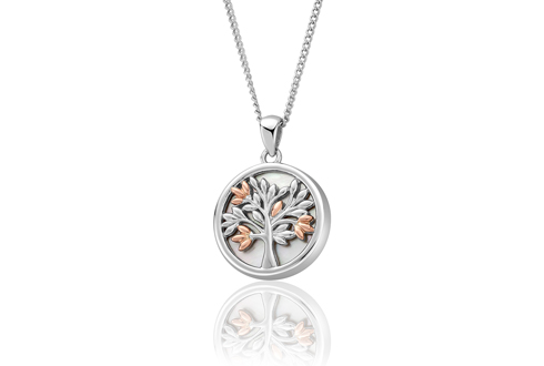 Tree of Life White Mother of Pearl Pendant