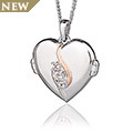 The Spirit of Christmas Swarovski Topaz Locket
