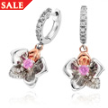 Orchid Pink Sapphire Drop Earrings *SALE*