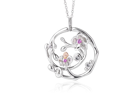 Orchid Pink Sapphire Pendant