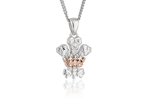 The Prince of Wales' Feathers 50th Anniversary Investiture pendant