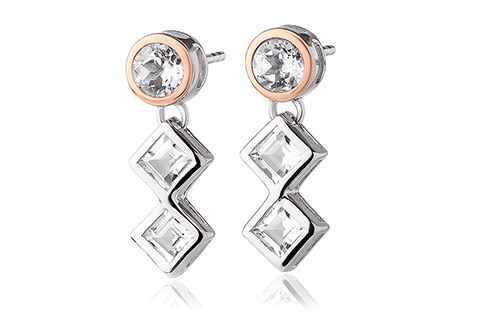 Welsh Royalty Anniversary White Topaz Earrings