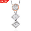 Welsh Royalty Anniversary White Topaz Pendant