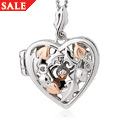 Royal Clogau Oak Open Heart Locket *SALE*