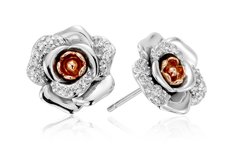 Rose White Topaz Earrings *SALE*