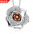 Rose White Topaz Pendant *SALE*