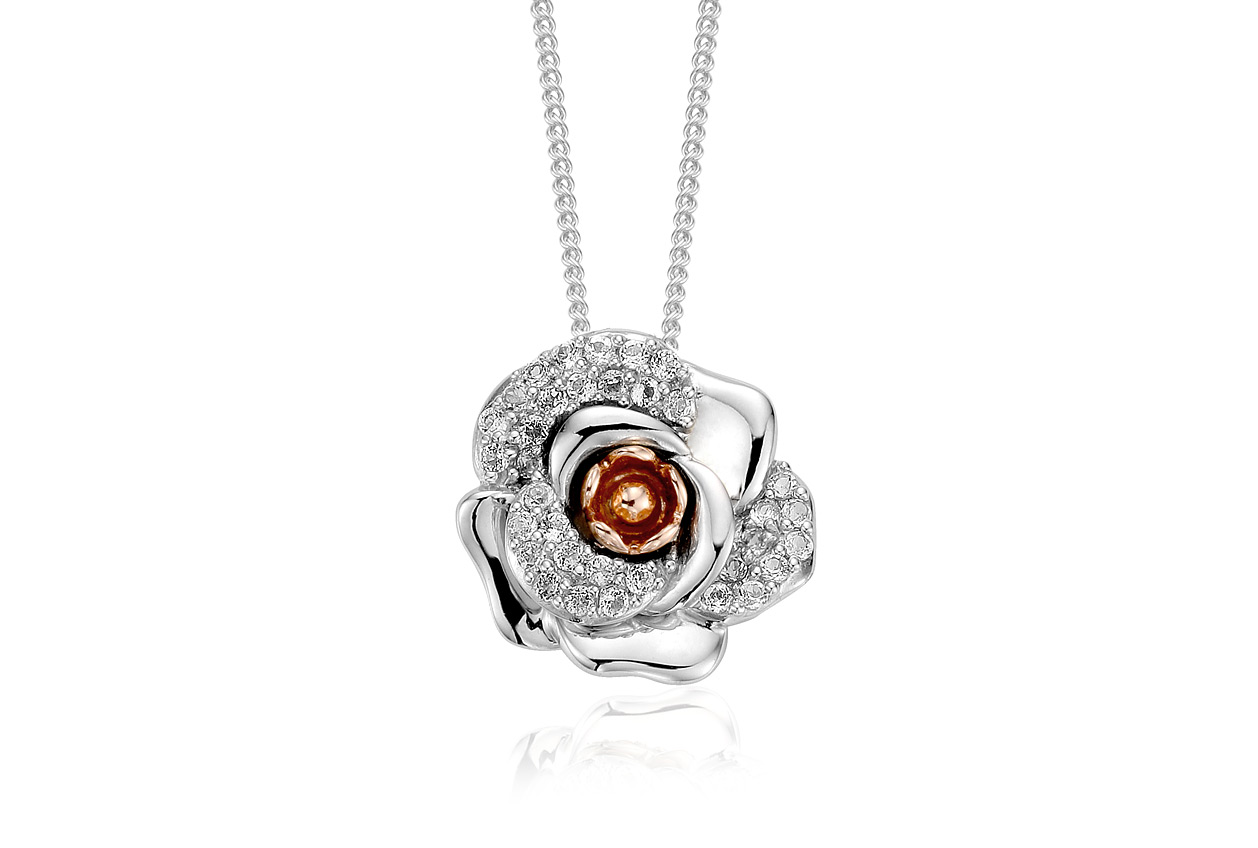 Rose White Topaz Pendant