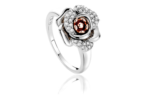 Rose White Topaz Ring