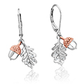 Royal Oak Leaf Drop Earrings