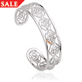 Royal Roses White Topaz Bangle *SALE*