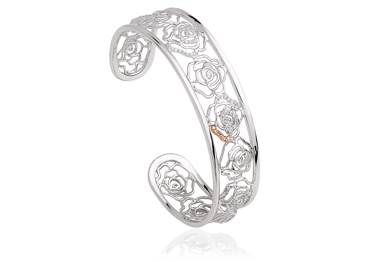 Royal Roses White Topaz Bangle