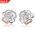 Royal Roses White Topaz Earrings