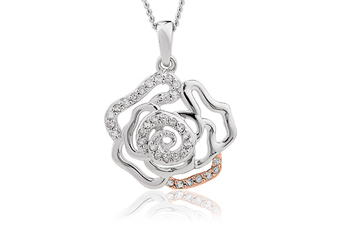 Royal Roses White Topaz Pendant