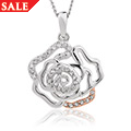 Royal Roses White Topaz Pendant *SALE*