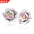 Rose Pink Sapphire Earrings *SALE*