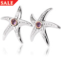 Starfish Amethyst Stud Earrings *SALE*