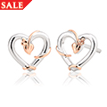 Tree of Life Vine Heart Stud Earrings *SALE*