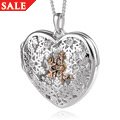 Snowflake Swarovski White Topaz Locket *SALE*
