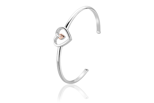 Tree of Life Heart Bangle