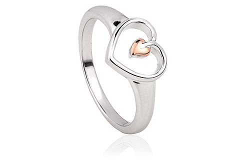 Tree of Life Heart Ring