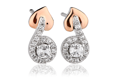 afda42185 Tree of Life Vine Stud Earrings | Clogau Gold