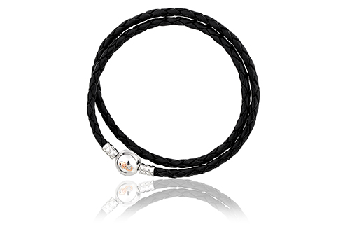 Tree of Life Insignia Black Leather Bracelet