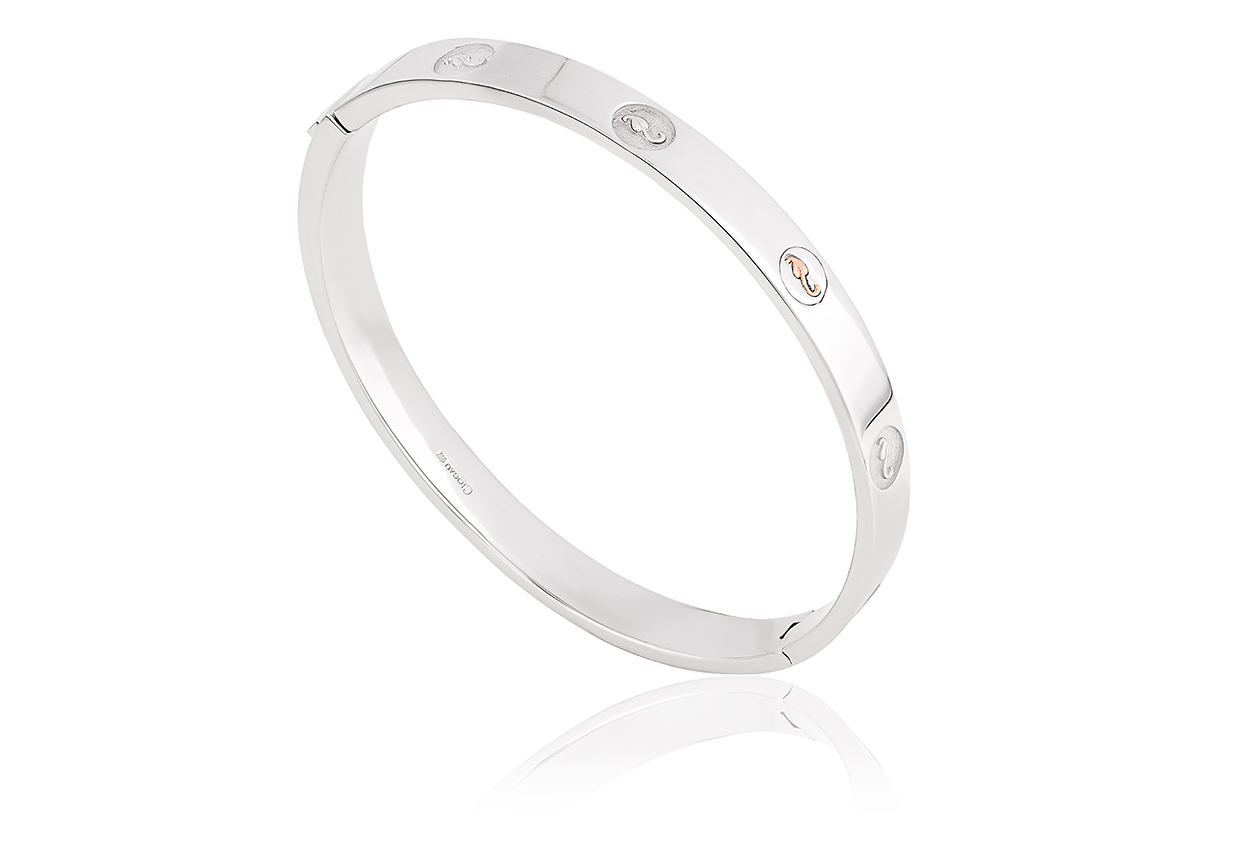 Silver Tree of Life Insignia Bangle