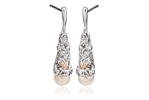 Tree of Life Pearl Drop Earrings