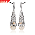 Tree of Life Pearl Drop Earrings *SALE*