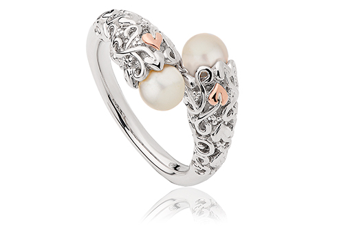 Clogau Dwynwen Mother of Pearl Ring - Size O KXmTn