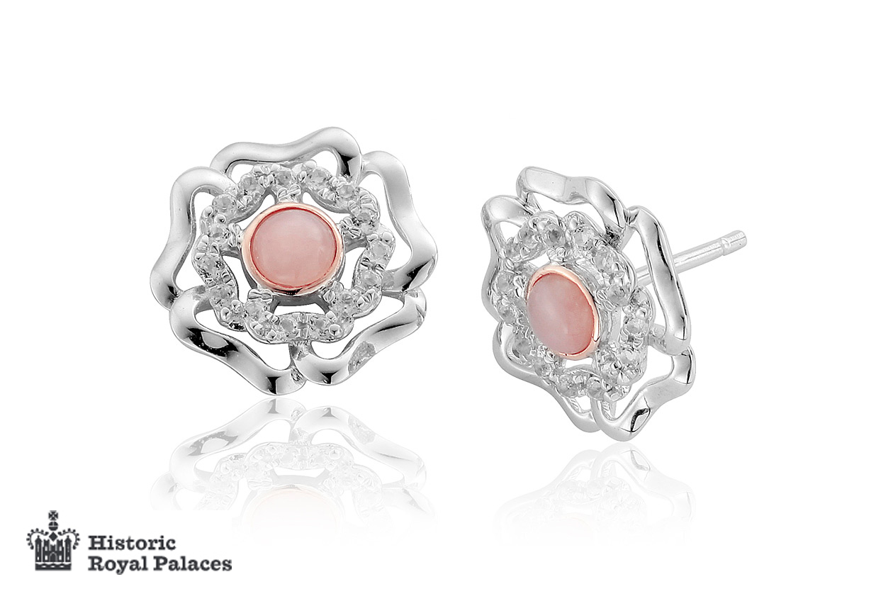 Tudor Rose Stud Earrings