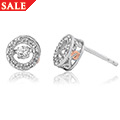 National Treasures Swarovski Topaz Stud Earrings