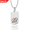 Welsh Dragon Dog Tag Pendant *SALE*