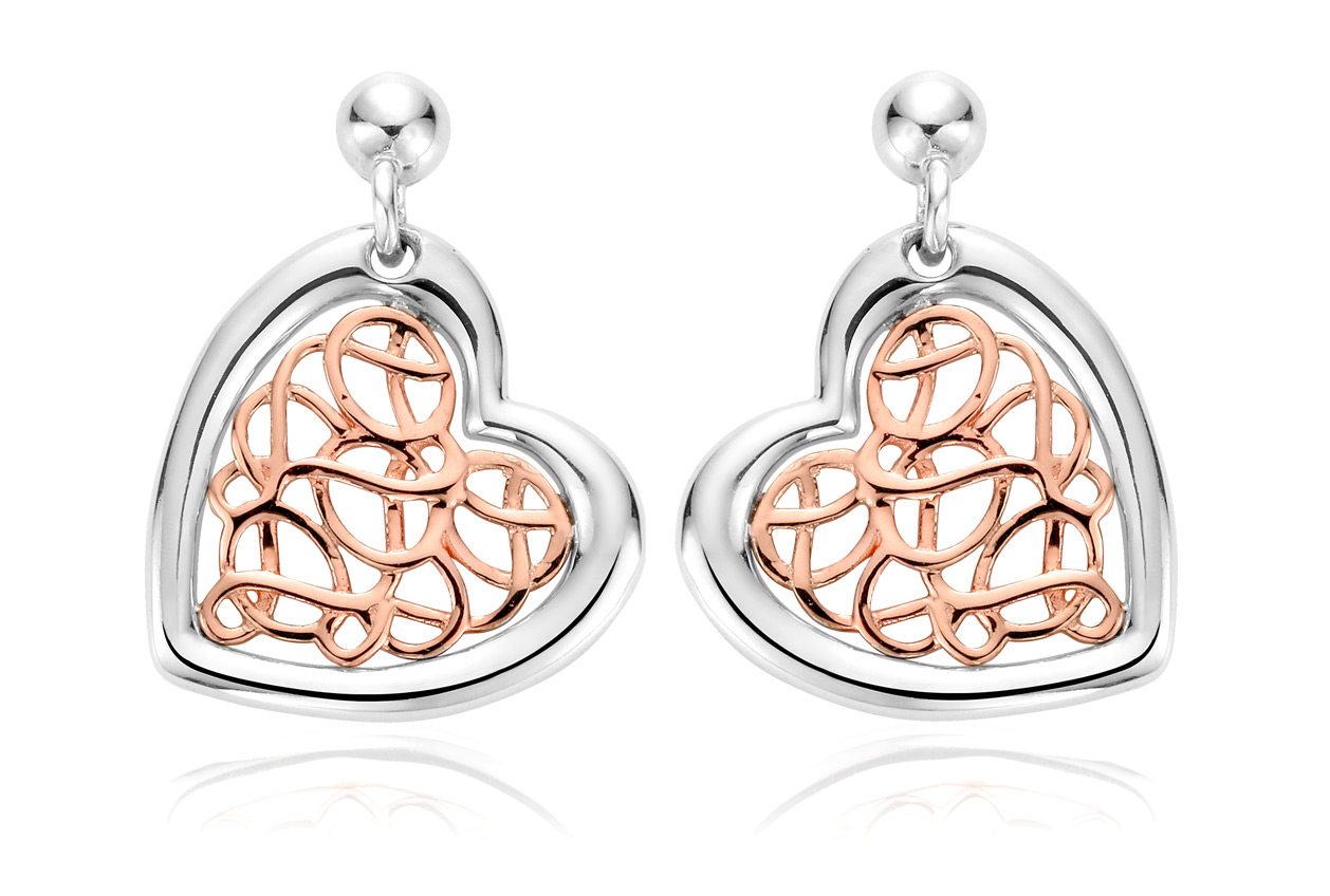 Welsh Royalty Heart Earrings