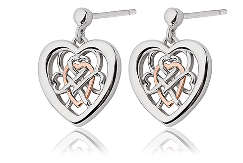 Welsh Royalty Heart Stud Earrings