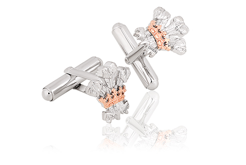 The Prince of Wales Feathers 50th Anniversary Investiture cufflinks *SALE*