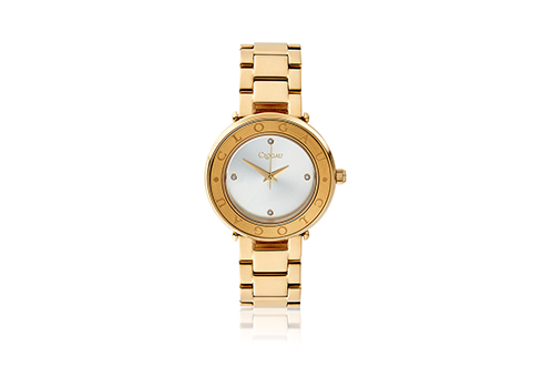 Ladies Clogau Yellow Gold Plated Stainless Steel Diamond Watch