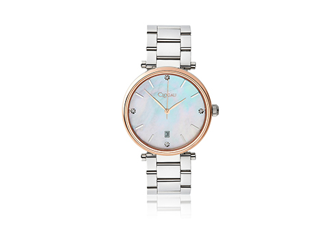 Ladies Classic Mother of Pearl Stainless Steel Watch