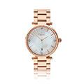 Ladies Classic Mother of Pearl Rose Gold Plated Stainless Steel Watch