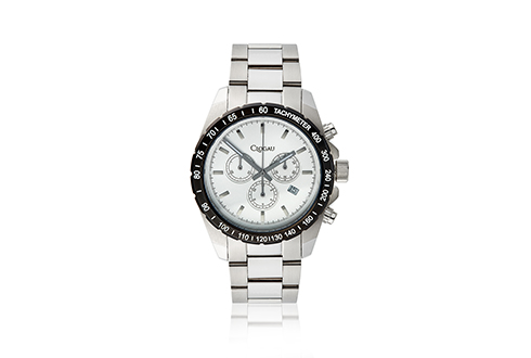 Mens Stainless Steel with Black Bezel Sports watch